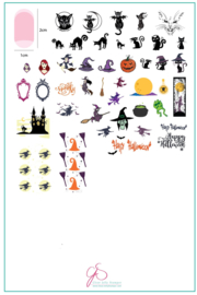 Clear Jelly Stamper - Big Stamping Plate - CJS_H36 - Be-Witched
