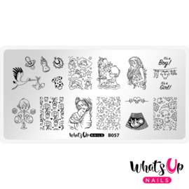 Whats Up Nails - Stamping Plate - B057 The Gift of Life