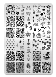 UberChic - Big Nail Stamping Plate - Beach Please