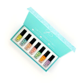 Clear Jelly Stamper - Stamping Polish Kit - Candy Shop (7 Colours)