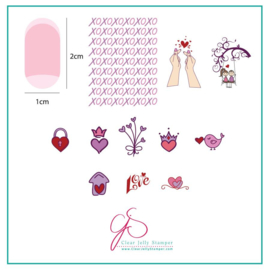 Clear Jelly Stamper - Stamping Plate - CJS_V27 -  XOXO