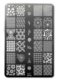 UberChic Beauty - Nail Art Stamping Plates – Collection 25