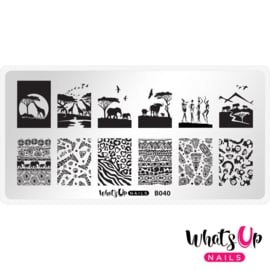Whats Up Nails - Stamping Plate - B040 Safari Ride