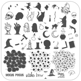 Clear Jelly Stamper - Medium Stamping Plate - CJS_H56 - Witches Brew