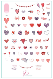Clear Jelly Stamper - Big Stamping Plate - CJS_V10 - PS: I Heart You!