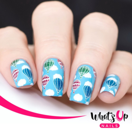 Whats Up Nails - Stamping Plate - B042 Head in the Clouds