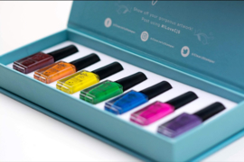 Clear Jelly Stamper - Stamping Polish Kit - Rainbow (7 Colours)