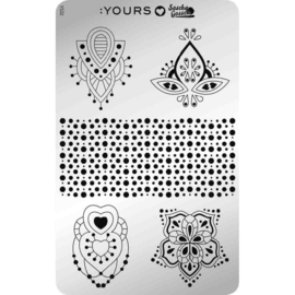 Yours Cosmetics - Stamping Plates - :YOURS Loves Sascha - YLS32. Shapes in Symphony