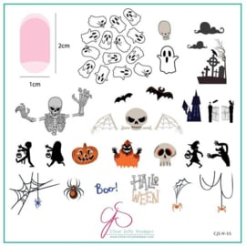 Clear Jelly Stamper - Medium Stamping Plate - CJS_H55 - Hallo-Ween