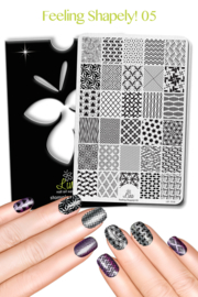 Lina - Stamping Plate - Feeling Shapely! - 05
