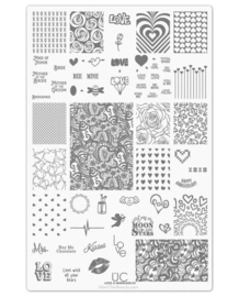 UberChic - Big Nail Stamping Plate - Love and Marriage - 03