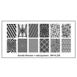 Bundle Monster - nails.by.teens Blogger Collaboration Nail Art Polish Stamping Plates - Set 4 (BM-XL218)