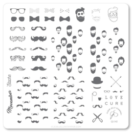 Clear Jelly Stamper - Medium Stamping Plate - CJS_142 Hippest Movemember