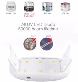 Roze Draagbare LED & UV Lamp ( 2 in 1) - 6 Watt