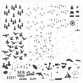Clear Jelly Stamper - Medium Stamping Plate - CJS_162 - Sail Away