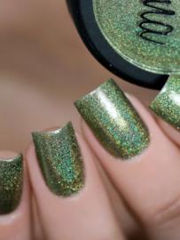 Lina - Pixiedust - Holo-Glitter Powder - Golden olive