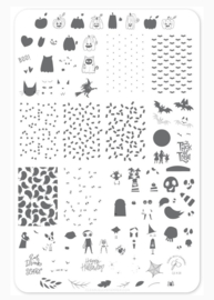Clear Jelly Stamper - Big Stamping Plate - CJS_H42 - Trick or Creeping