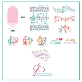 Clear Jelly Stamper - Stamping Plate - CJS_122 - Musical Score