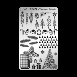 Yours Cosmetics - Stamping Plates - YOURS Loves A Christmas Miracle – YLX01. Jingle Bells