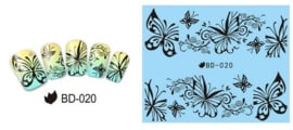 Waterdecals - Butterflies