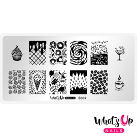 Whats Up Nails - Stamping Plate - B007 Sugar High