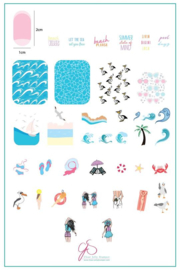 Clear Jelly Stamper - Big Stamping Plate - CJS_159 - Beach Day!