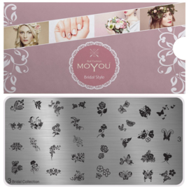 Moyou Nail Fashion - XL Stamping Plate - Bridal Collection - 3