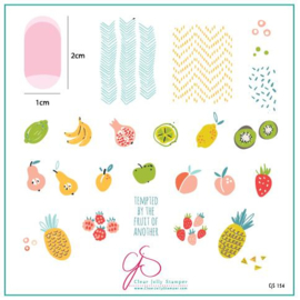 Clear Jelly Stamper - Medium Stamping Plate - CJS_154 - Mod Life Series - Just Picked