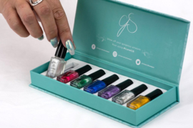 Clear Jelly Stamper - Stamping Polish Kit - Christmas Glitz (7 colours)