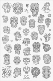 UberChic - Nail Stamping Plate - Sugar Skulls-01