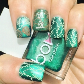 Great Outdoors - Uber Mini Nail Stamp Plate