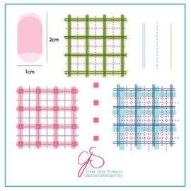 Clear Jelly Stamper-  Stamping Plate - CJS_08 - Perfectly Plaid