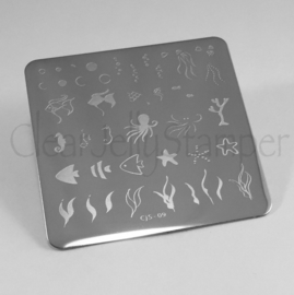 Clear Jelly Stamper - Stamping Plate - CJS_09 - Under the Sea