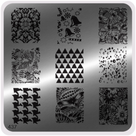 Moyou Nail Fashion - Stamping Plate - Glam Style - 437