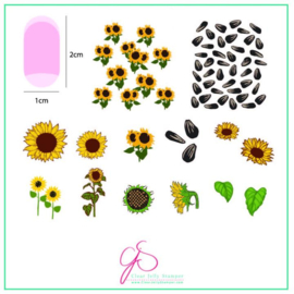 Clear Jelly Stamper - Medium Stamping Plate - CJS_163 - Sunflowers
