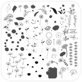 Clear Jelly Stamper - Medium Stamping Plate - CJS_158 - Feel Free