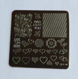Clear Jelly Stamper - Stamping Plate - CJS_V04 - Layers of LoVe