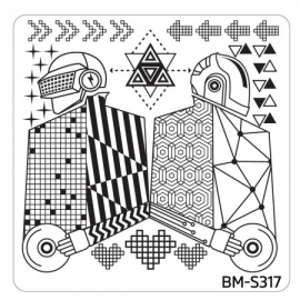 Bundle Monster - Musik City Nail Art Manicure Stamping Plate - BM-S317: Kings Of The Beat