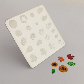 Clear Jelly Stamper -  Stamping Plate - CJS_26 - Sunflowers & Leaves
