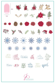 Clear Jelly Stamper - Big Stamping Plate - CJS_C19 - Merry Christmas My Deer