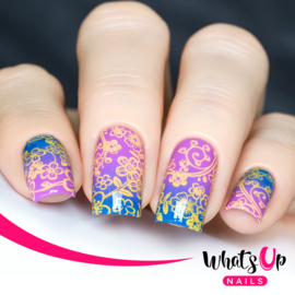 Whats Up Nails - Stamping Plate - A005 Floral Paradise