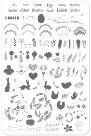 Clear Jelly Stamper - Big Stamping Plate - CJS_H30 - Enchanted Easter