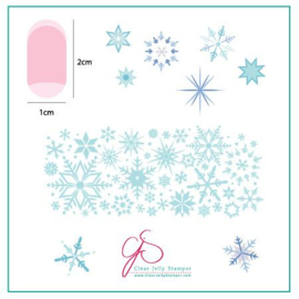 Clear Jelly Stamper - Stamping Plate- CJS_03 - Snowflakes