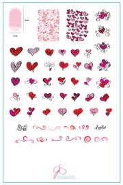 Clear Jelly Stamper - Big Stamping Plate - CJS_V11 - Flirty Flourish