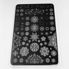 Clear Jelly Stamper - Big Stamping Plate - CJS_C14 - Diamonds in Ice
