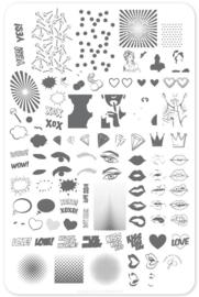 Clear Jelly Stamper - Big Stamping Plate - CJS_V22 - POP Heart