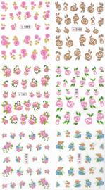 Waterdecalset - Roses