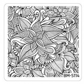 Bundle Monster - Paisley Flow Nail Art Manicure Stamping Plate - Flourishing Beauty
