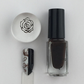 Clear Jelly Stamper Polish - #23 Pure Cocoa