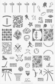 UberChic - Nail Stamping Plate - Sports Fan - 01